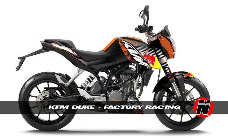 KTM Duke    Custom Sticker Graphic Decals Kits Ktm Duke - Red bull motorcycle custom stickers