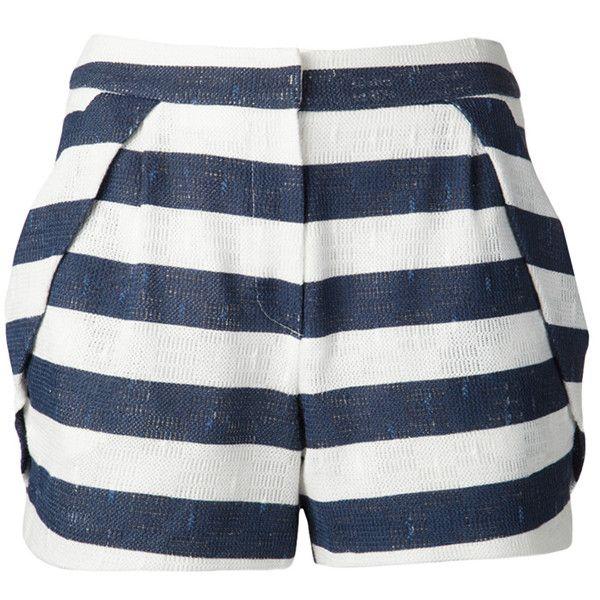 O`2nd 34 Navy Shorts (€155) ❤ liked on Polyvore featuring shorts, bottoms, pants, short, navy, pocket shorts, zipper shorts, navy shorts, navy blue shorts and cotton shorts