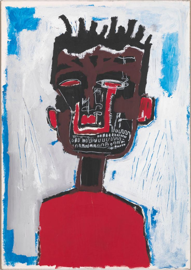 Jean-Michel Basquiat - Self Portrait, 1984, acrylic and oilstick on paper mounted on canvas, 98.7 x 71.1cm