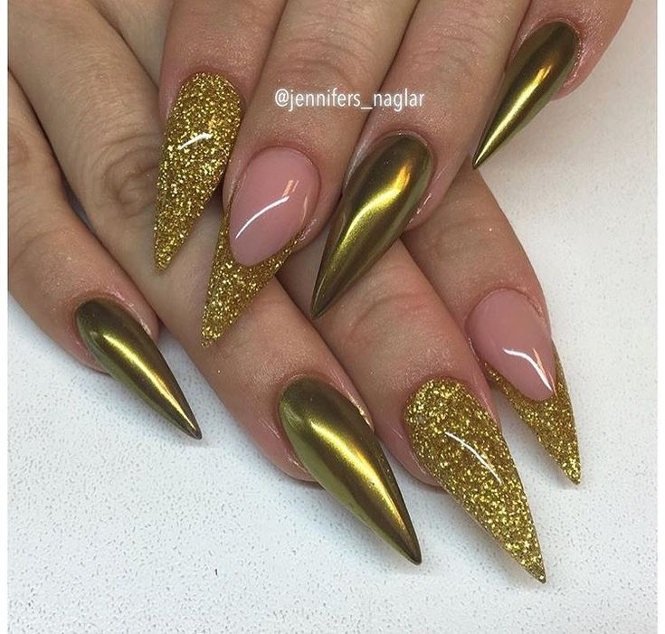 Halloween Nail Art Designs Without Nail Salon Prices: 25+ Best Ideas About Gold Stiletto Nails On Pinterest