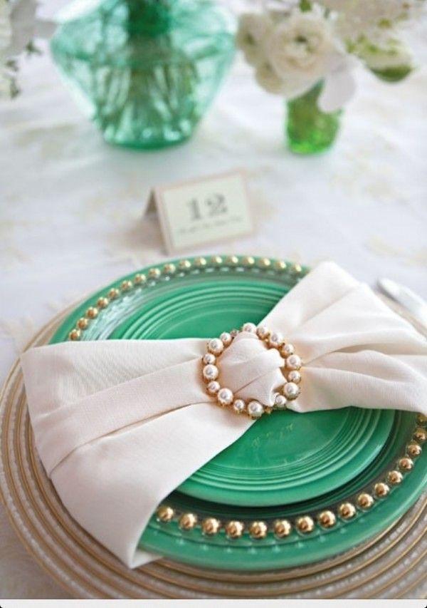 Interesting napkin idea for place settings | Napkin Fold ...