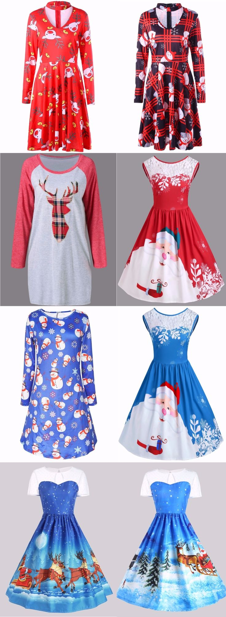 Merry Christmas Dress| Start at only $10 | Party Dress | Christmas Idea| Print Dress| Swing Dress | Snowflake Dress| Snowman Dress| Vintage Dress| Sammydress.com