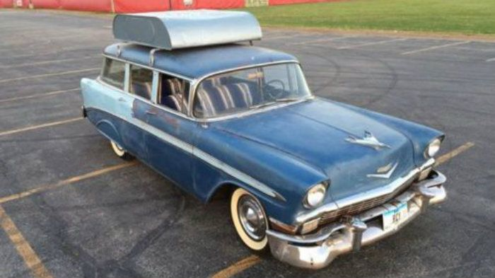 Room For The Team: 1956 Chevrolet Bel Air Beauville #USA #Chevrolet, #Drivers, #Wagons - http://barnfinds.com/room-team-1956-chevrolet-bel-air-beauville/