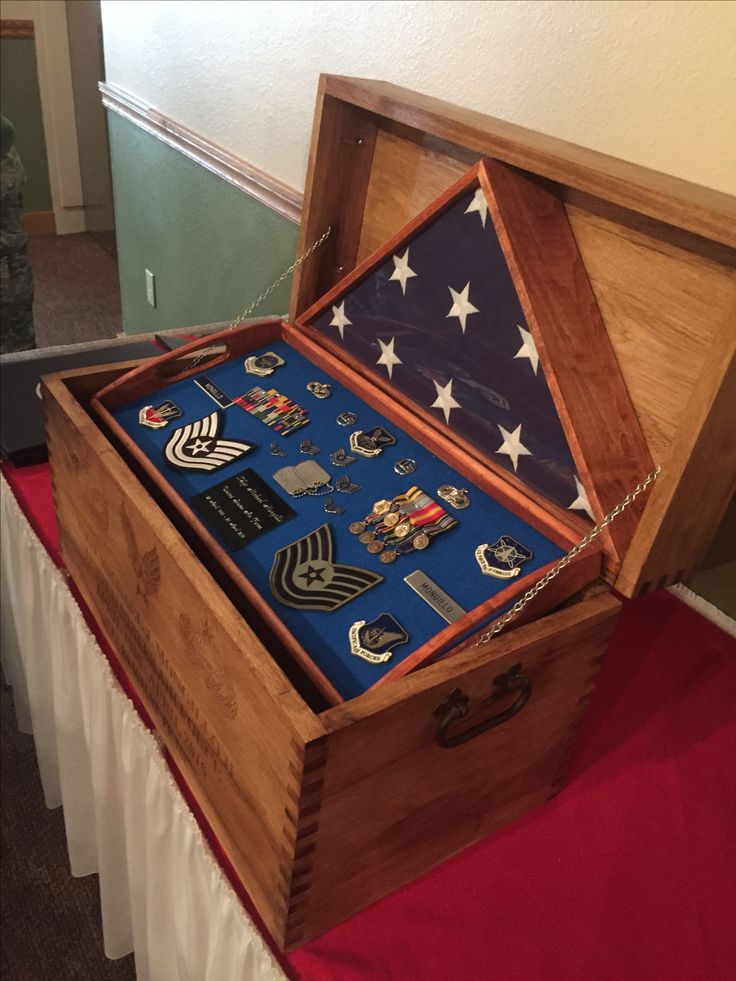 Flag Case And Chest Flag Cases Military Shadow Box
