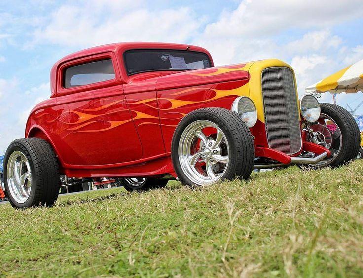 Flames Friday! #fuel32  @red72rs  See more at Fuel32.com Click link in bio  #1932ford #1931ford #1930ford  #1929ford #1928ford #32ford #highboy #deuce #coupe #hamb #ford #1932 #vintagecar #hopuplive #streetrod #hotrod #sema #trog #customcar #5window #3window #roadster #modela #gnrs #flathead #traditionalhotrod #roddersjournal #livingthehighboylife