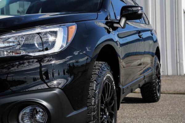 "Make: Subaru Model: Outback 2.5i limited Year: 2016 Color: Black Modifications: Tires: 245/65R17 BFGoodrich All Terrain T/A KO2 Wheels: Motegi MR118 Lift kit: 2"" LP Aventure Cargo basket: Thule"