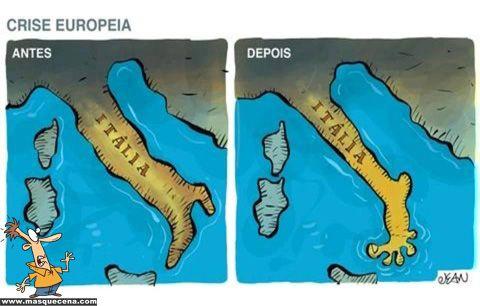 Itália antes e depois da crise europeia - Mas que cena!