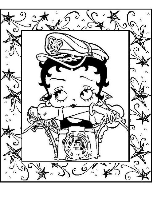 baby betty boop coloring pages - photo #48