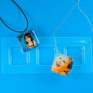 """Create up to three 1-1/8"""" square cast pieces at a time. These are plastic molds which are highly polished for a reflective mirror finish - no polishing needed! With proper care, this mold is reusable"""