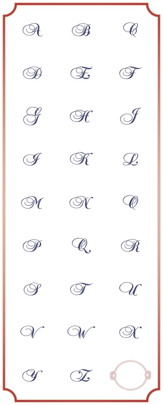 BESV405 - NAUTICAL ROPE FRAME WITH MONOGRAM AHOY There Matey!!! A right royal set of monograms with a rope frame befitting a slaty dog. Perfect to mark your bath robe, towels, face cloths and personel plunder. http://tinyurl.com/h2dr4ly