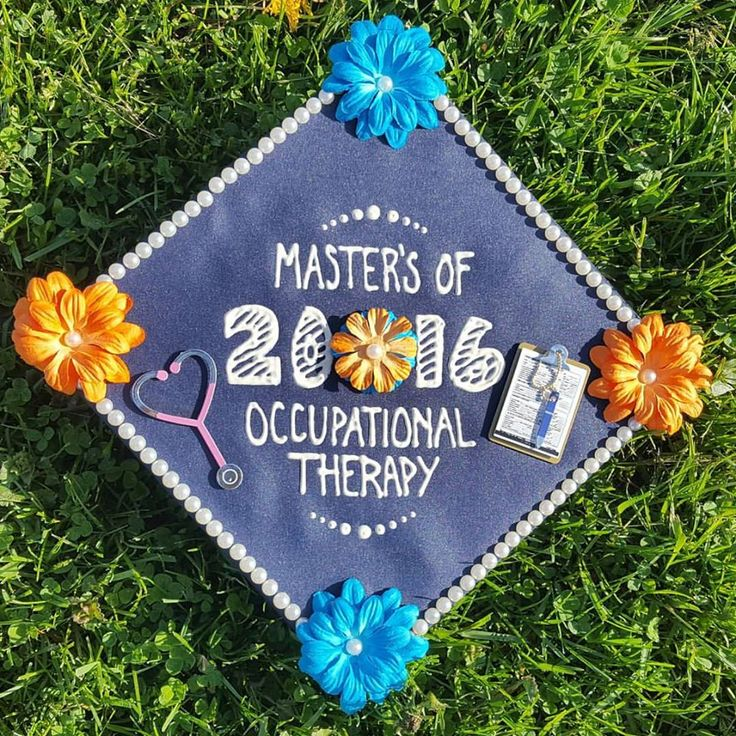 My graduation Cap, Masters of Science in Occupational Therapy =) !! <3