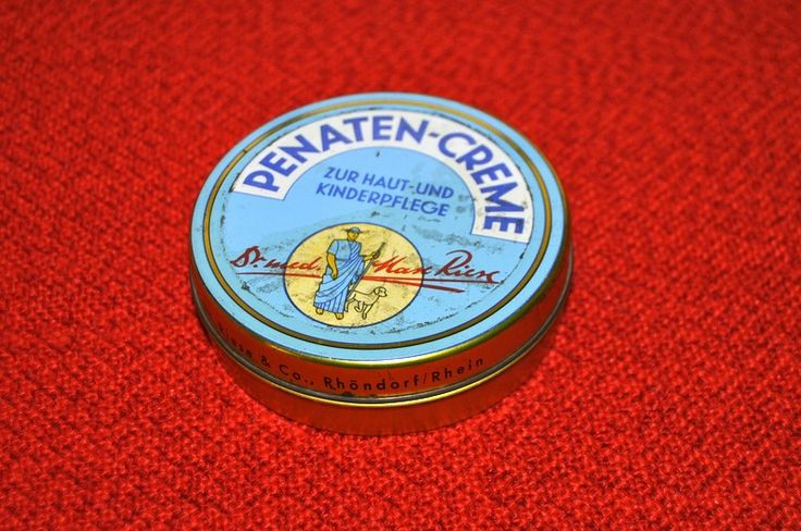 #PENATEN_CREME - von Dr. med Max Riese - Dose aus den 60ern ---- *made in Germany* ---- Skin cream for children (and adults)