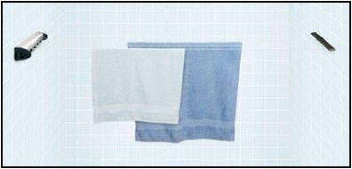 Wandwäschetrockner ausrollbare Wäscheleine Edelstahl ausziehbar