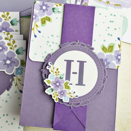Monogrammed Stationery Set Box by Heather Nichols for Papertrey Ink (April 2016)