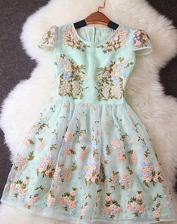 Floral Printed Summer Dress