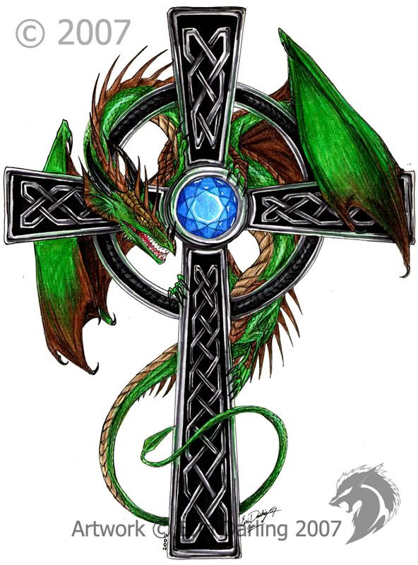 celtic dragon art celtic dragon cross by hybridgeist on. Black Bedroom Furniture Sets. Home Design Ideas