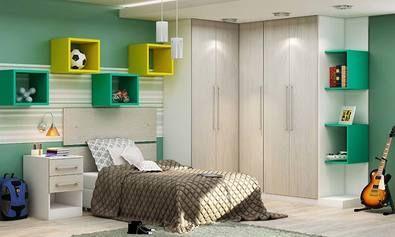 http://www.lojaskd.com.br/quarto-de-solteiro-modulado-completo-com-cabeceira-criado-mudo-guarda-roupa-com-cantoneira-e-nichos-branco-artico-verde-amarelo-genial-flex-112155.html