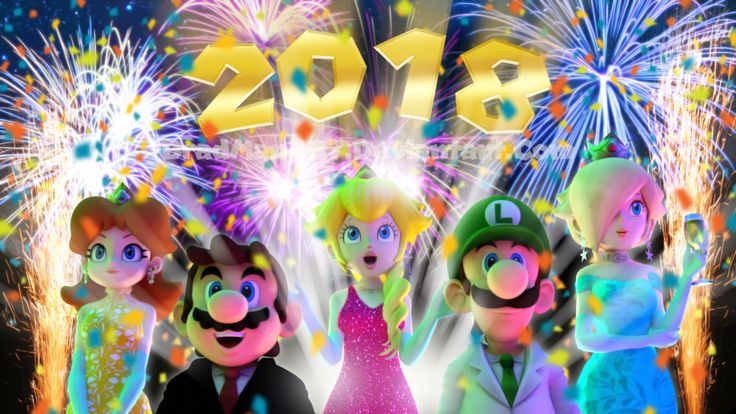 Happy New Year from Mario and Friends 2018 by BradMan267.deviantart.com on @DeviantArt