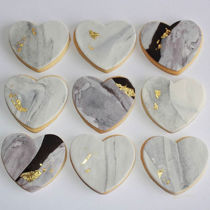 """Connect Three"" marble fondant cookies #cookies #marble #desserts #heart…"