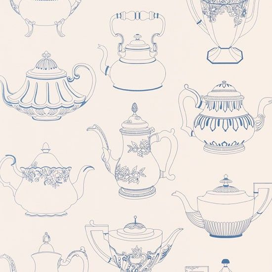 Give your kitchen a vintage theme with this gorgeous teapot wallpaper. Hang on a wall and place a sideboard in front with an eclectic collection of vintage tea cups and cake stands. From Wallpaperdirect.