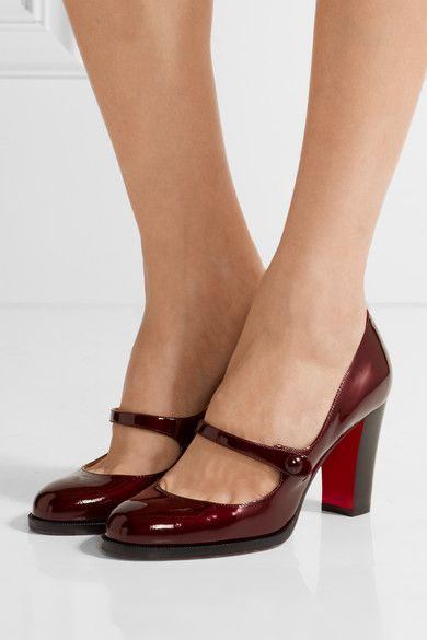 Artsy Miu Miu Leather Red Mary Jane Pumps
