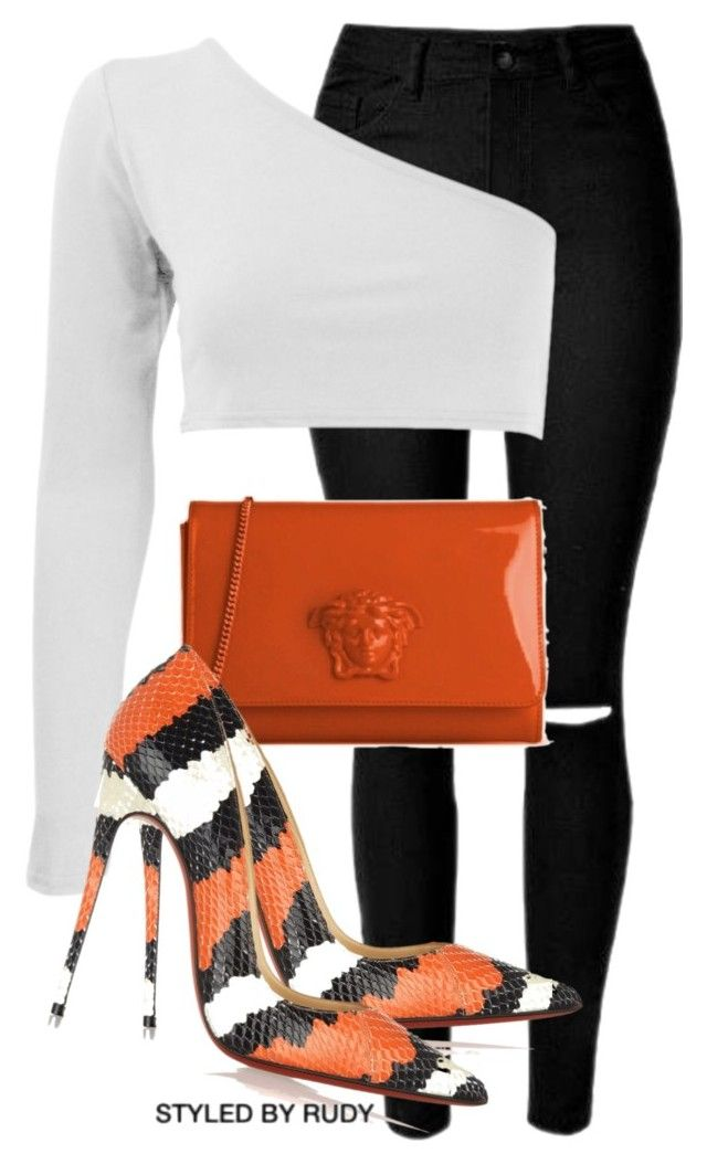 Untitled #698 by styledbyrudy on Polyvore featuring polyvore fashion style Christian Louboutin clothing