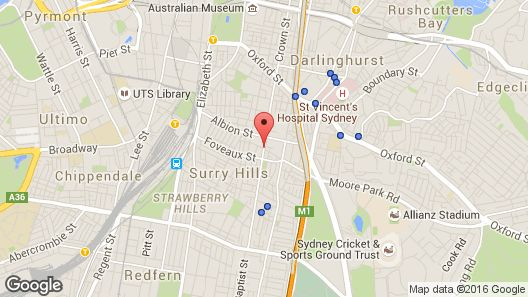 Adina Apartment Hotel Sydney, Crown Street Map