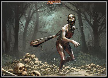 magic the gathering illustration zombie horror fantasy
