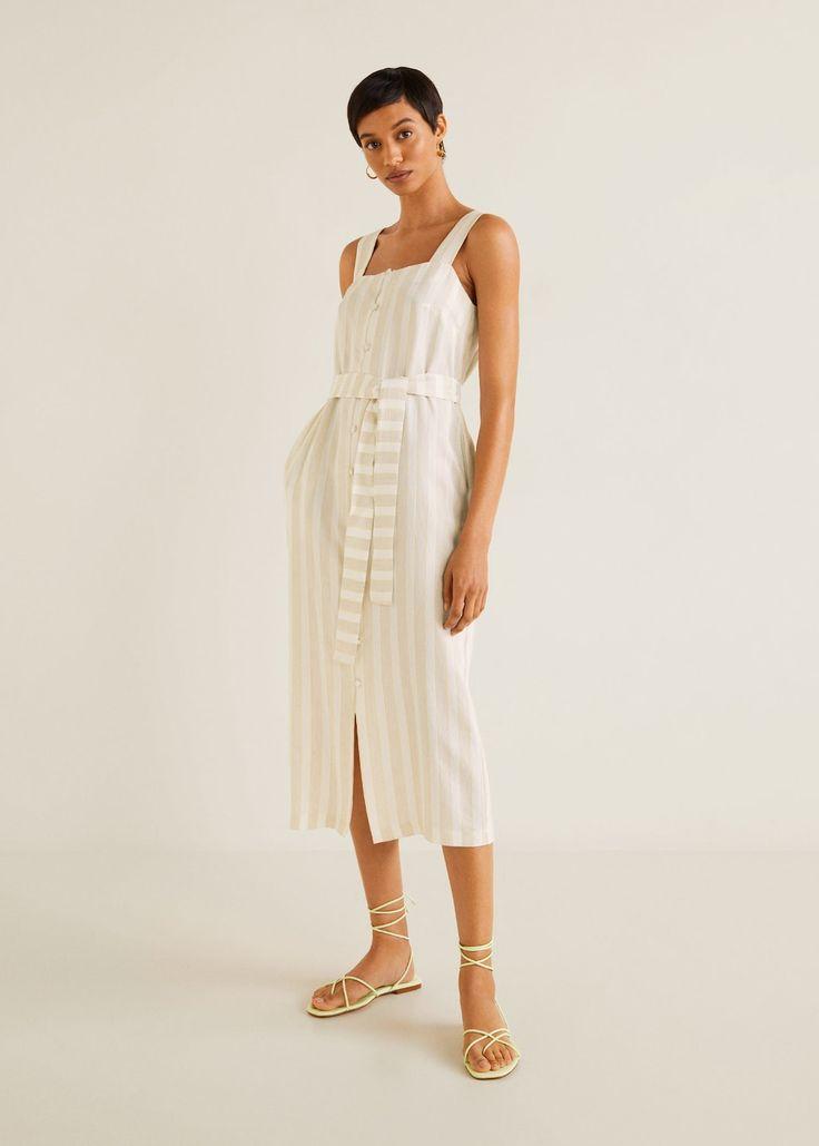 Gestreiftes midi-kleid - Damen | Striped midi dress ...