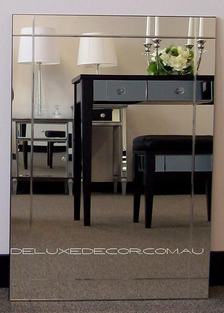 Groove Bevel Modern Rectangle Wall Mirror 1594 (700 x 500 mm) http://deluxedecor.com.au/products-page/wall-mirrors/groove-bevel-modern-rectangle-wall-mirror-1594-700-x-500-mm/