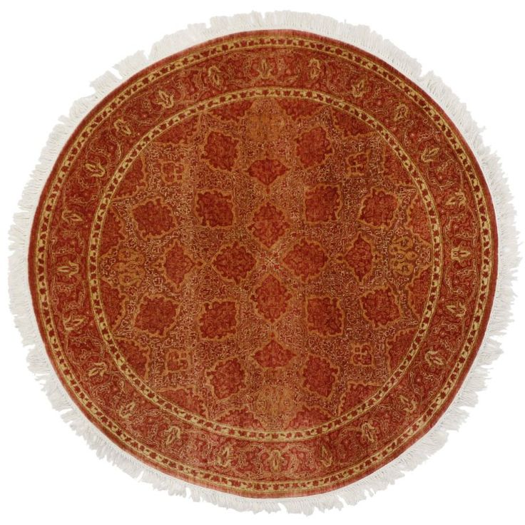 Modern Indian Rug with Floral Pattern and Transitional Style, Round Rug   From a unique collection of antique and modern indian rugs at https://www.1stdibs.com/furniture/rugs-carpets/indian-rugs/