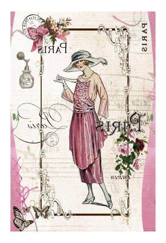 Vintage lady printable: