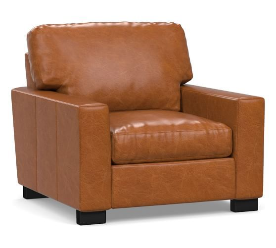 Turner Square Arm Leather Armchair | Leather armchair ...