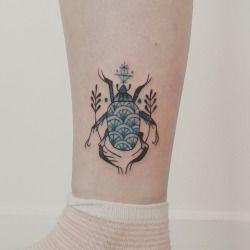 Cute pti scarab onlenabeetle ✨ to #sweetneedletattoo