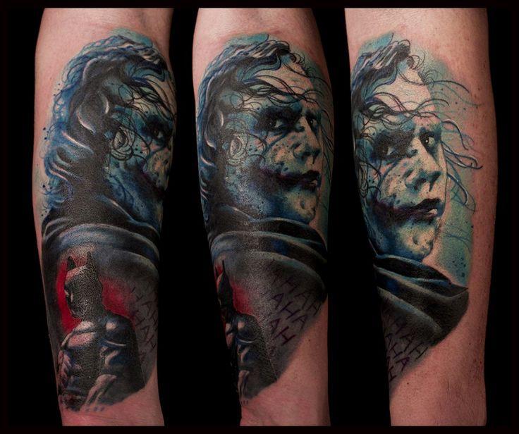 the joker tatouage tattoo prtrait par Piero la cour des miracles toulouse