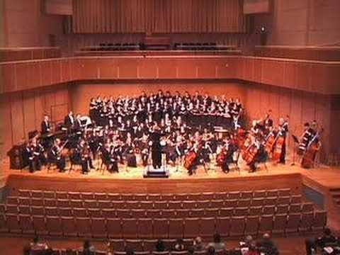 """John Corigliano. Fern Hill (part 1). The Illinois State University Symphony Orchestra and Concert Choir performing John Corigliano's setting of the Dylan Thomas poem """"Fern Hill"""""""