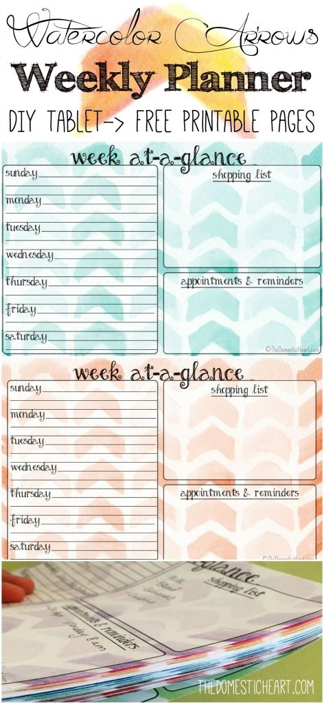Do you need some organization in your life? Well this simple weekly planner from TheDomesticHeart can help! This post includes Instructions and free printable pages so you can make one of your own!