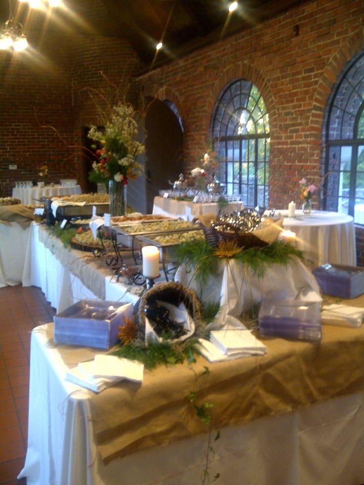 Buffet setup for wedding buffet setup from avondale for Villa decoration ideas