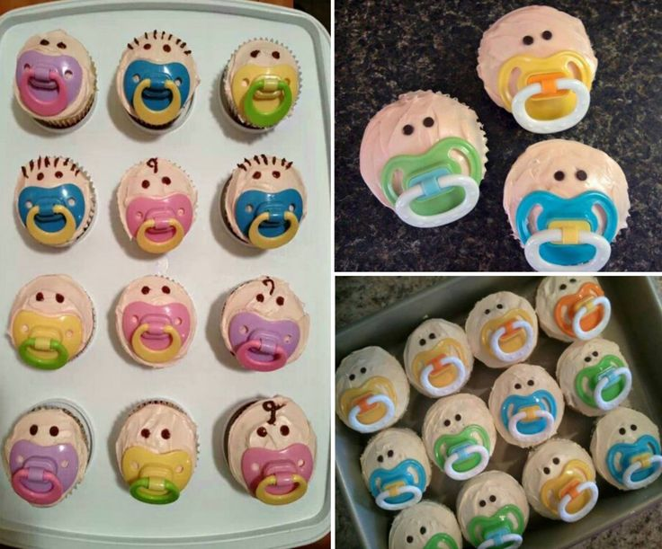 baby pacifier cupcakes the whoot