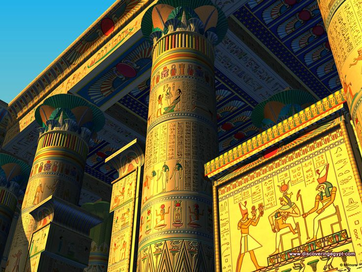 Ancient Egypt Temples | Free Ancient Egyptian Desktop Backgrounds - Temple of Isis