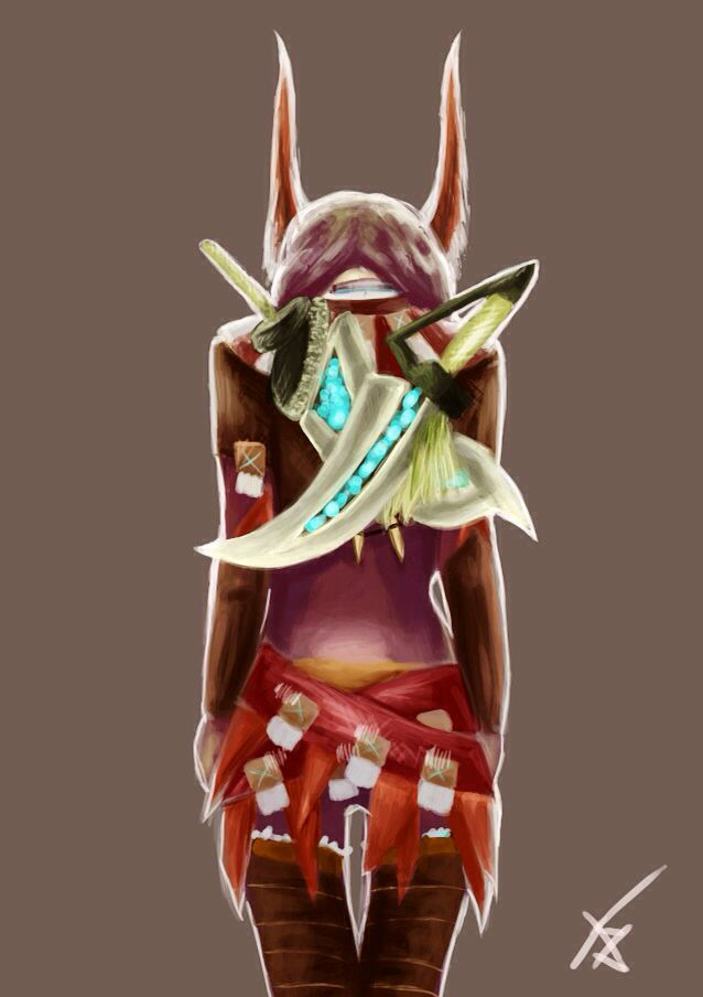 Digital painting - armor Hypnocatrice - Double Sword Caedeus / Monster Hunter || by Adilas