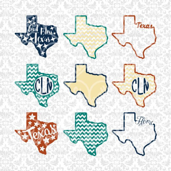 Texas State Shape Monogram Chevron Outline Svg Studio Ai
