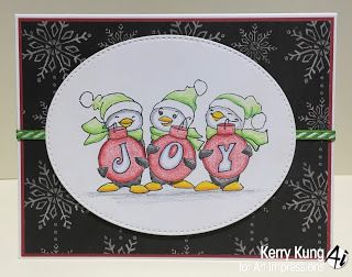 Art Impressions Rubber Stamps Ai Christmas Ai Penguins