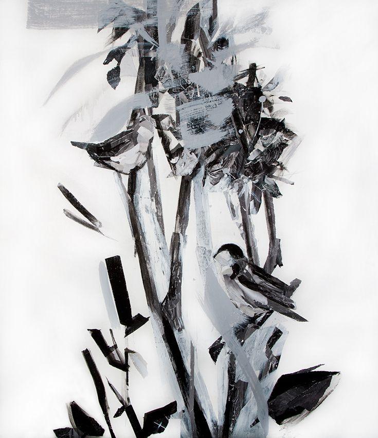 Mari Jäälinoja, Whitethroats, 2012, acrylic on canvas, 130x110cm