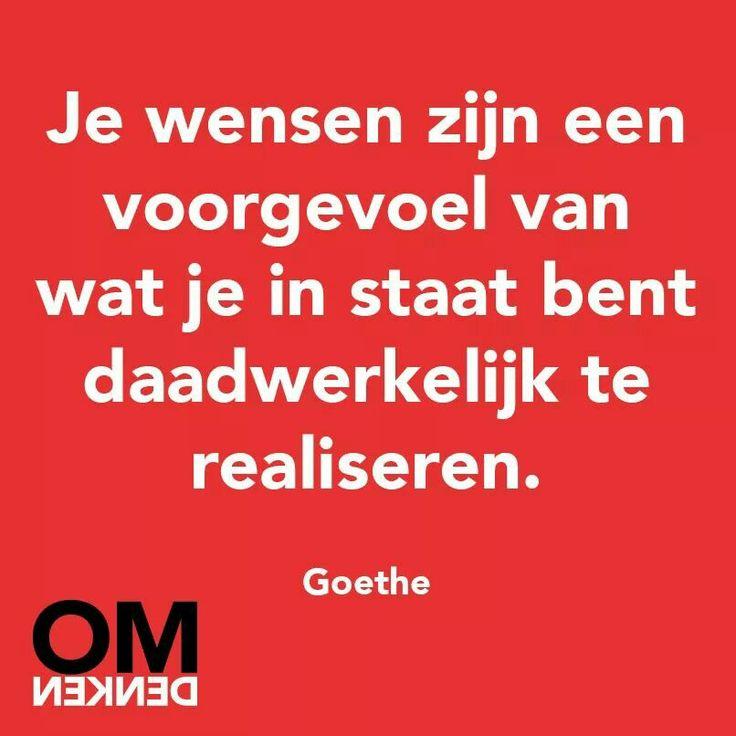 Omdenken ~ Goethe