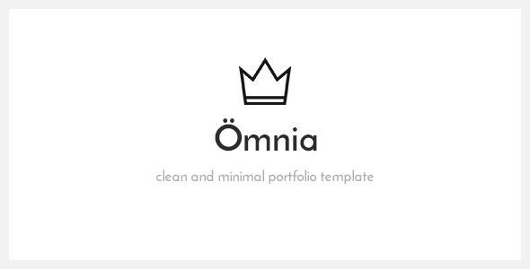 Omnia - Clean and Minimal Portfolio HTML5 Template Site Templates / Creative / Portfolio by VLThemes