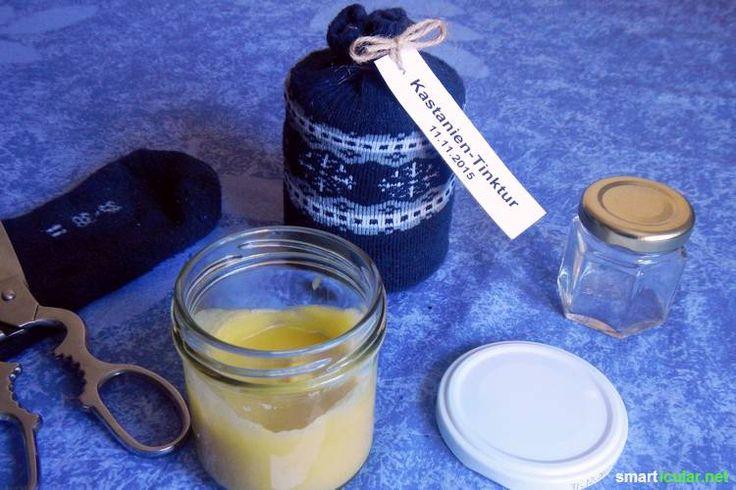 Selbstgemachte Kastaniensalbe für Venen, schwere Beine, Ischias & Co.