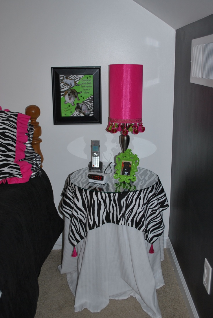 30 best zebra art images on pinterest zebras zebra art and make up bought a simple white table cover and stitched up some zebra fabric to make a decorative