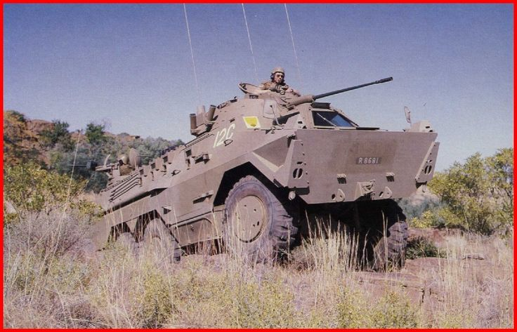 SADF.info Ratel Armoured Infantry Fighting Vehicle - Rear machine gunner at the ready...