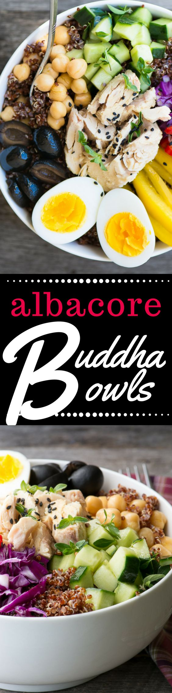 #sponsored ~ Albacore Buddha Bowls are quick, easy, high protein meals that can be made from…